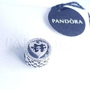Pandora Mickey and Minnie Mouse Sweetheart Charm